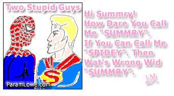 Two stupid guys comic cartoon by Param Lowe.