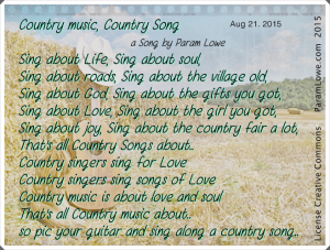 Country music, country song